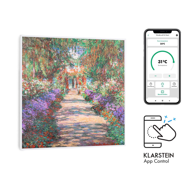 Klarstein Wonderwall Air Art Smart, infračervený ohrievač, 60 x 60 cm, 350 W, aplikácia, záhradná cesta