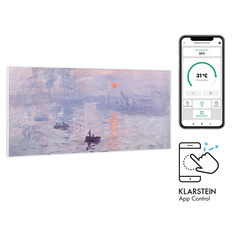 Klarstein Wonderwall Air Art Smart, infračervený ohrievač, 120 x 60 cm, 700 W, aplikácia, východ slnka