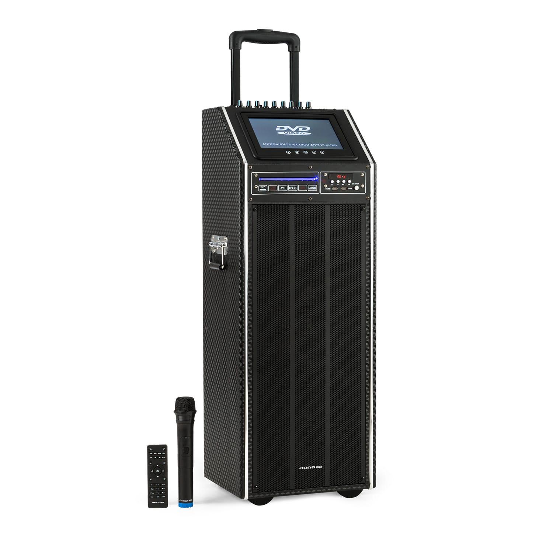 Auna Pro DisGo Box 2100 DVD, přenosný PA systém, 300 W max., 9'' TFT displej, DVD