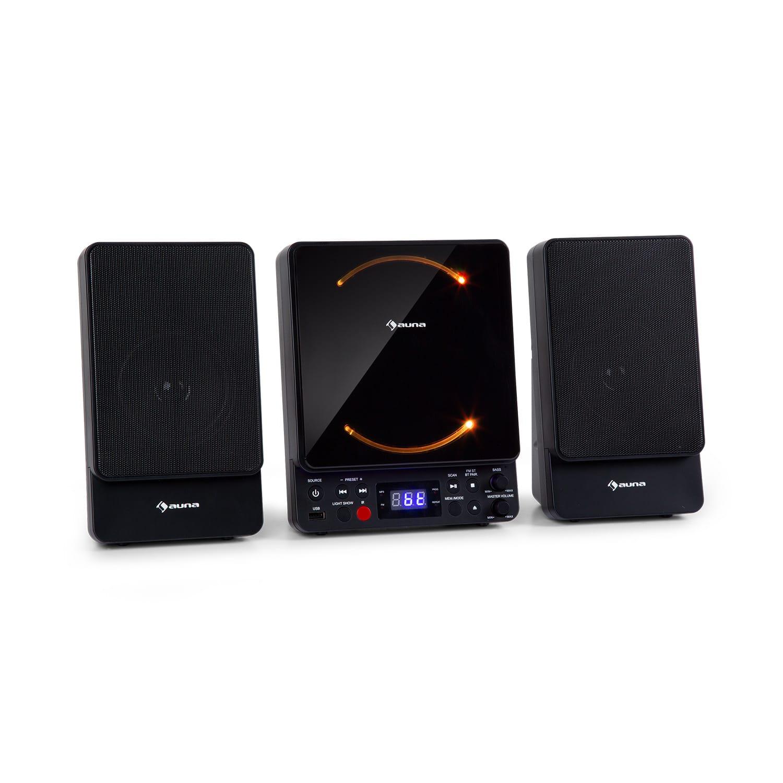 Auna Microstar, mikrosystém, vertikální systém CD přehrávač, bluetooth, USB port, dálkové ovládání