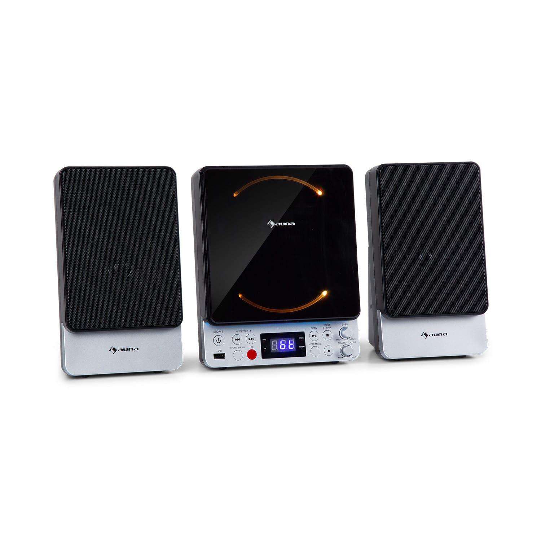 Auna Microstar Sing, mikro - karaoke systém, CD-přehrávač, Bluetooth, USB-port, dálkový ovladač