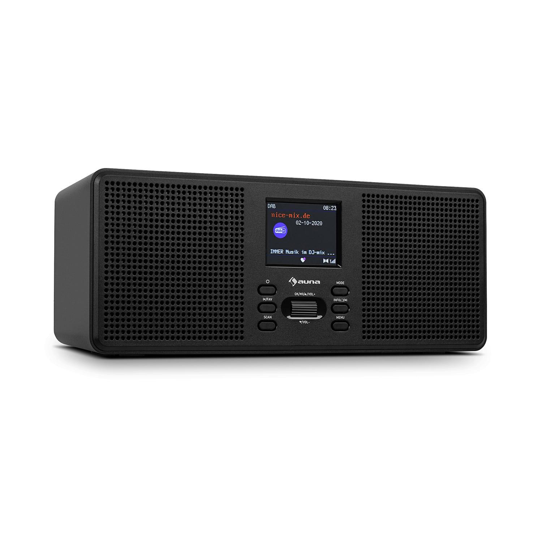 "Auna Commuter ST, DAB+/FM rádio, USB, AUX, 2.4"" TFT display, dálkový ovladač"