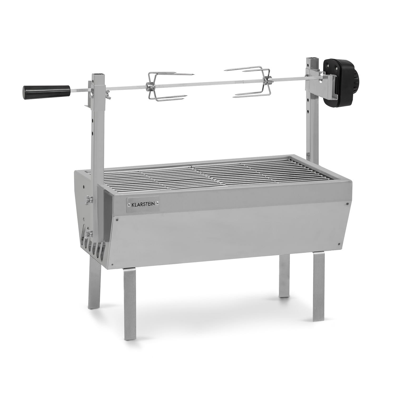 Klarstein Sauenland Mini, rotační gril s rožněm, otočný špíz, 4W, 12 kg max, ušlechtilá ocel