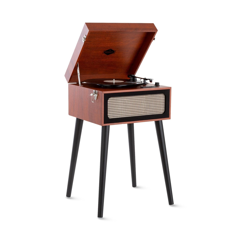 Auna Sarah Ann, gramofon, bluetooth, USB, 33, 45 a 78 ot./min., hnědý