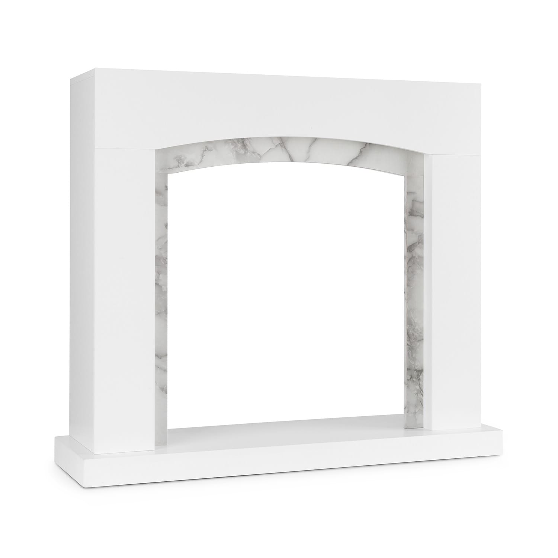 Klarstein Studio Frame II, krbový kryt, MDF, mramorová dekorace