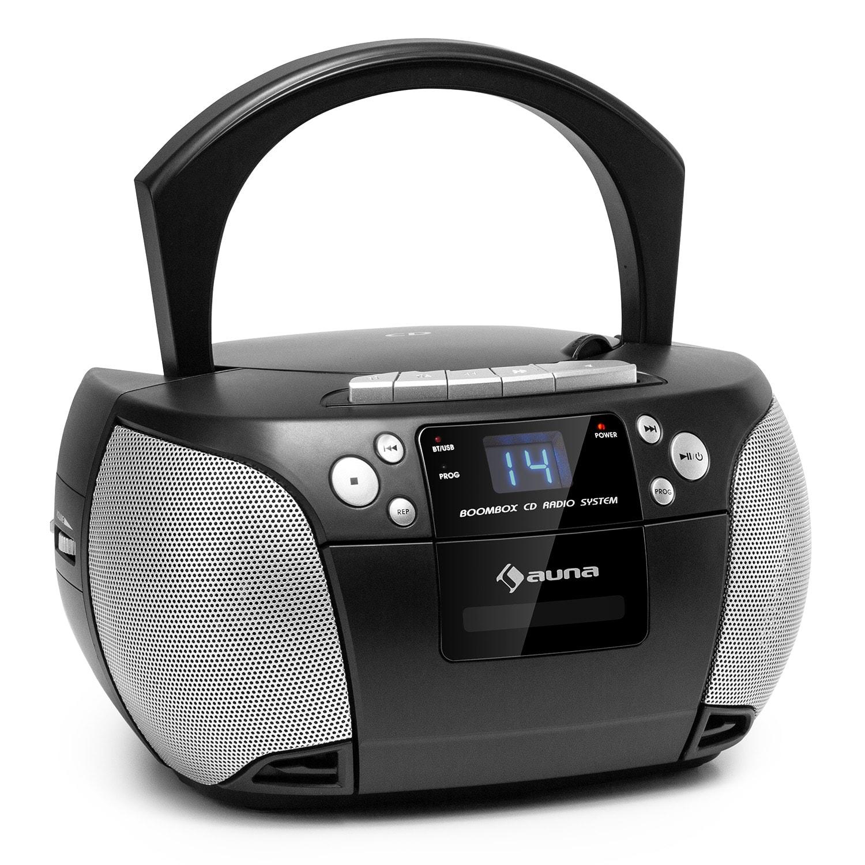 Auna Harper, CD radiomagnetofon, CD přehrávač, bluetooth, kazety, FM, AUX, USB
