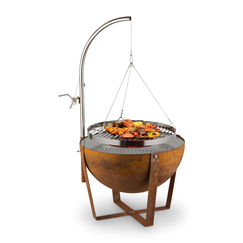 Blumfeldt Blum Fire Globe, ohniště s grilem, Ø 60 cm, ocel