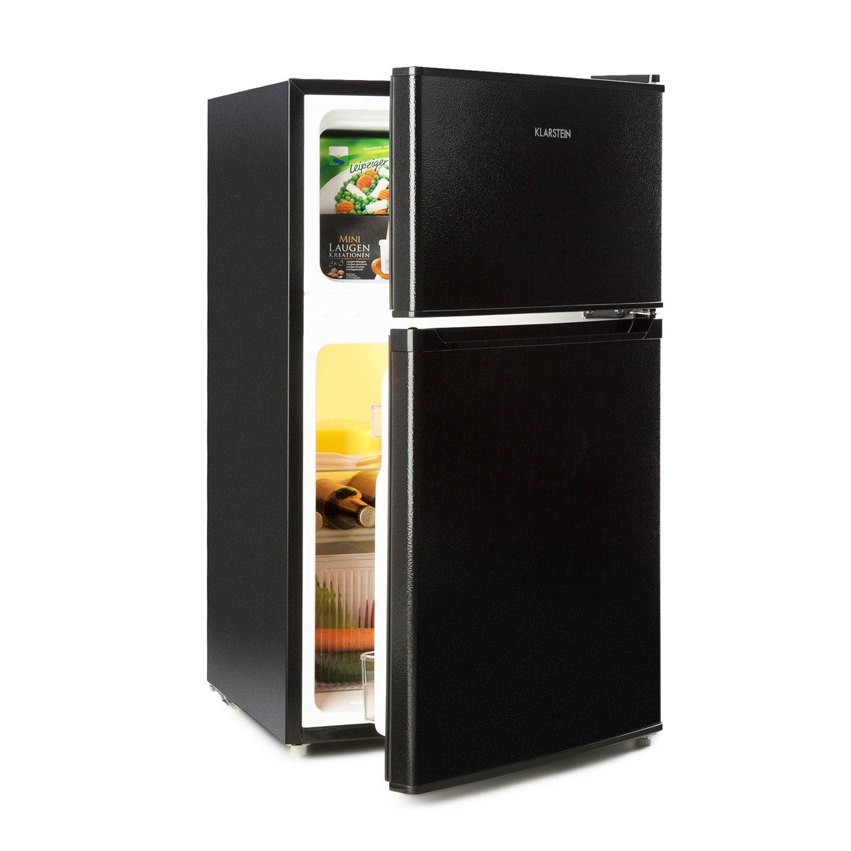 Klarstein Big Daddy Cool, chladnička s mrazničkou, 61/26 litrov, 42 dB, A+, čierna