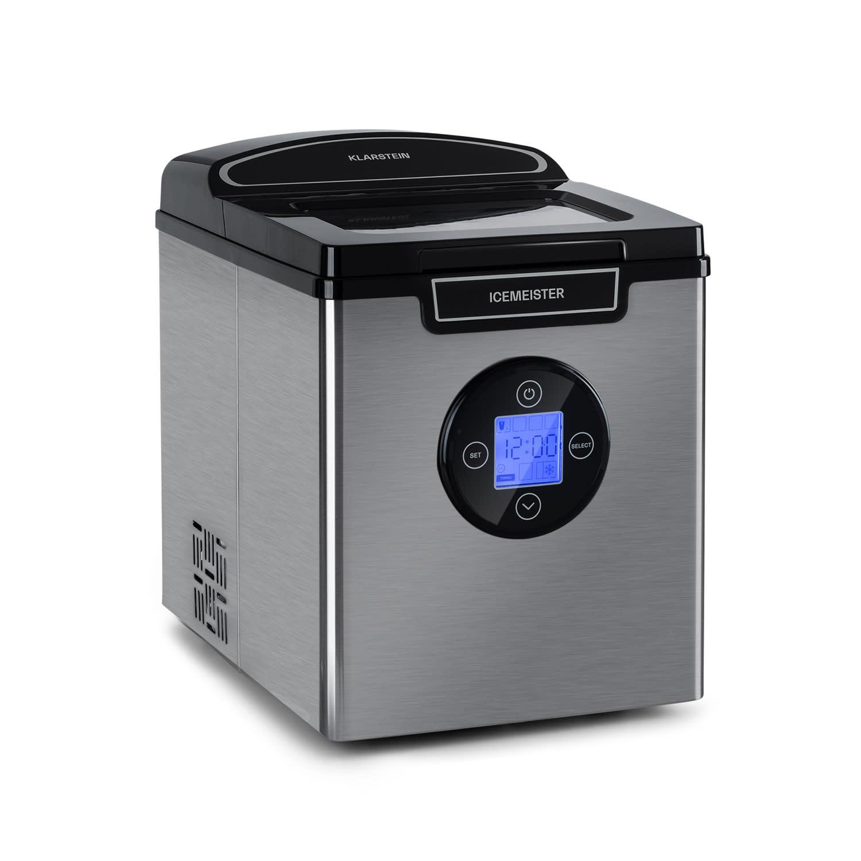 Klarstein Icemeister 2G, výrobník ledu, 12 kg/24 hod., LCD displej, nerezová ocel