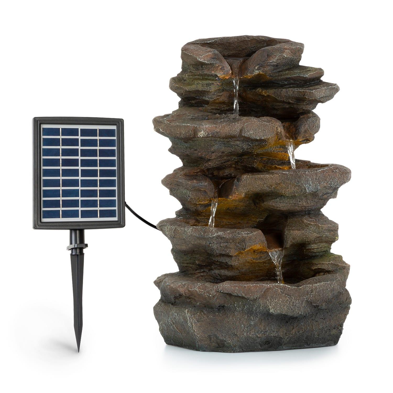 Blumfeldt Stonehenge, solární fontána, LED osvětlení, polyresin, lithium-iontový akumulátor