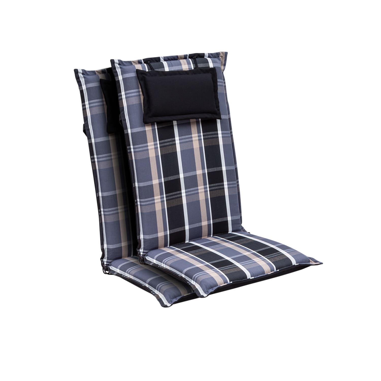 Blumfeldt Elbe, čalouněná podložka, podložka na židli, podložka na vyšší polohovací křeslo, na zahradní židli, dralon, 50 × 120 × 8 cm