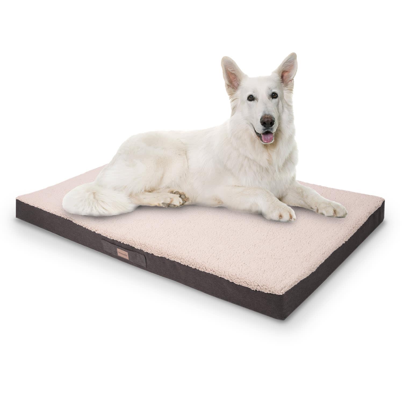 Brunolie Balu, pelíšek pro psa, polštář pro psa, možnost praní, ortopedický, protiskluzový, prodyšná paměťová pěna, velikost XXL (140 x 10 x 100 cm)