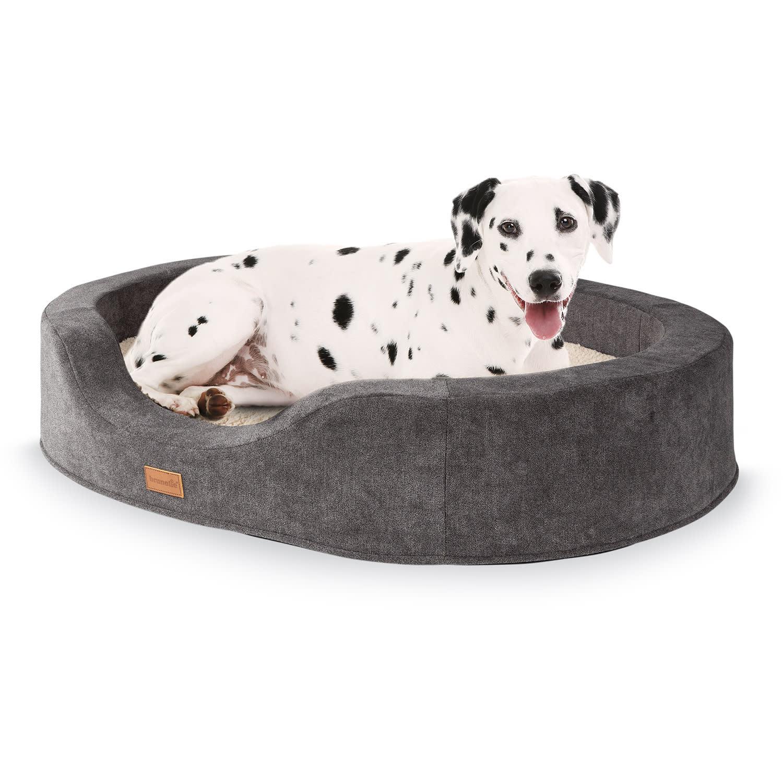 Brunolie Lotte, pelech pro psy, polštář pro psy, pratelný, ortopedický, protiskluzový, prodyšná paměťová pěna, velikost L (100 x 20 x 80 cm)