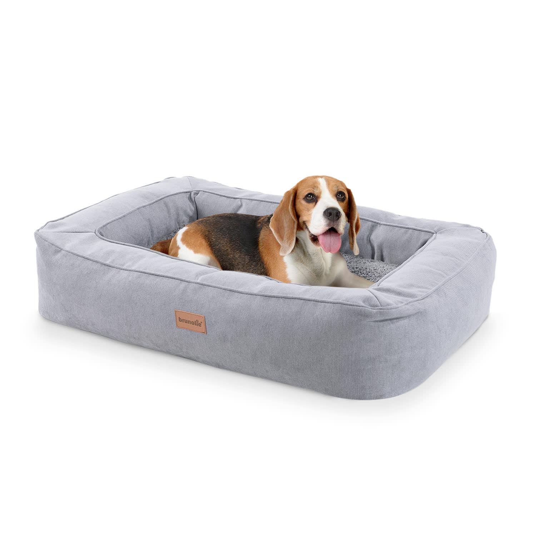 Brunolie Bruno, pelíšek pro psa, koš pro psa, možnost praní, ortopedický, protiskluzový, prodyšný, paměťová pěna, velikost M (80 × 17 × 55 cm)