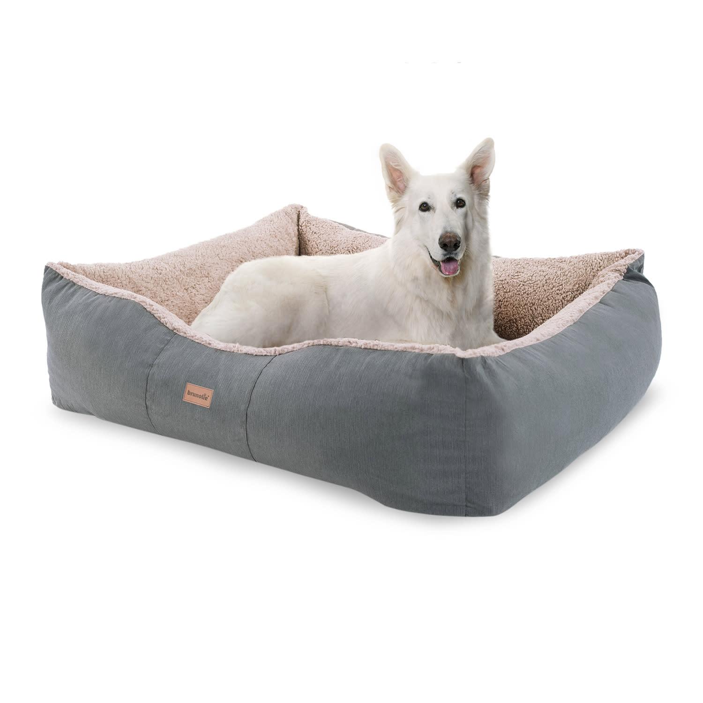 Brunolie Emma, pelíšek pro psa, koš pro psa, možnost praní, protiskluzový, prodyšný, oboustranná matrace, polštář, velikost L (100 × 30 × 90 cm)