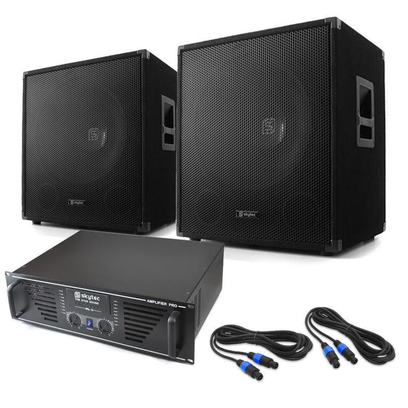 "Skytec DJ set ""Lewis 1600 Bass Hurricane"", 45 cm 1600W"