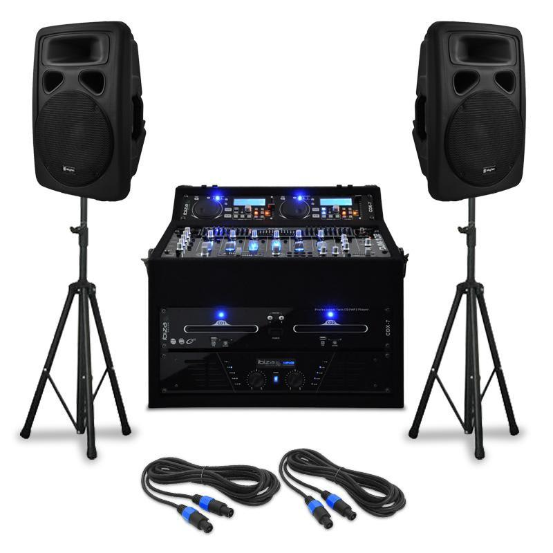 """Electronic-Star DJ PA set """"Urban Trip-Hop Beats"""", 1000W, až 250 osob"""