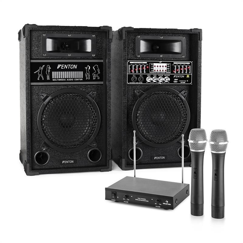 Electronic-Star Karaoke zařízení STAR-8, repro, bezdrátové mikrofony, 600W