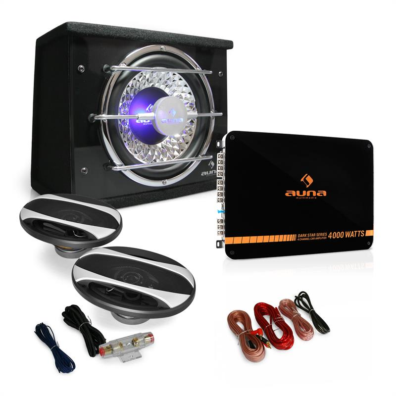 Auna 2.1 Auto Hi-Fi set Platin Line 320, zesilovač, repro, subw.