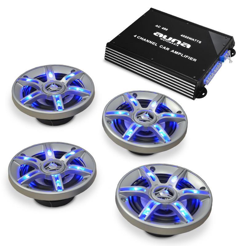Auna Auto hi-fi set BeatPilot FX-401, reproduktory, zesilovač