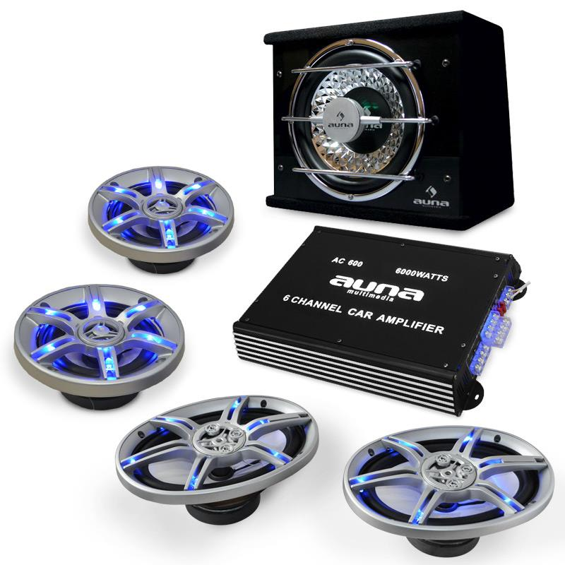 Electronic-Star Auto hi-fi set BeatPilot FX-413, reproduktory, zesilovač