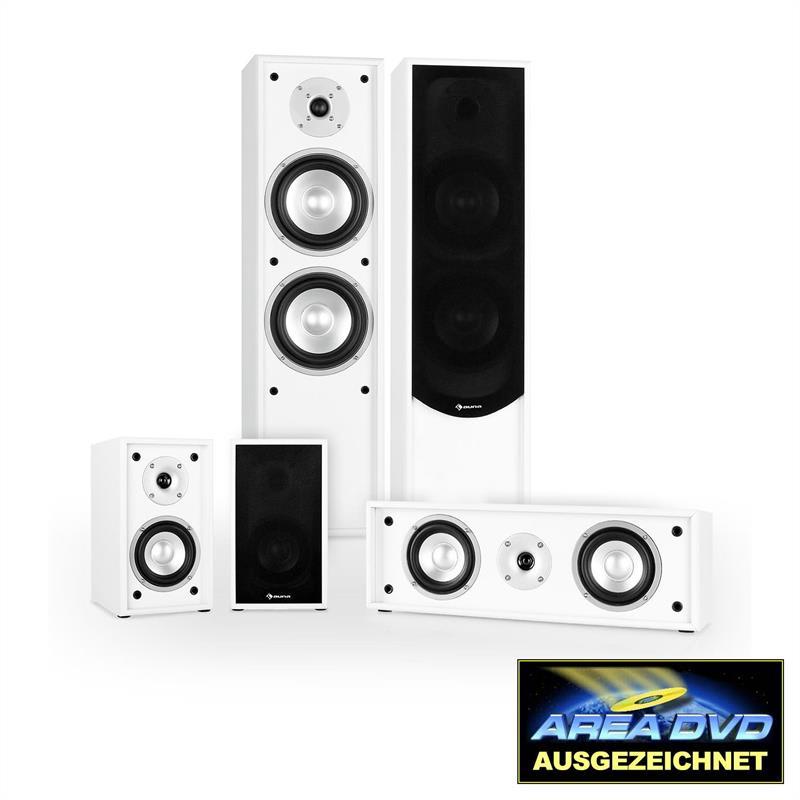 5.0 systém k domácímu kinu Auna Linie-300-WH, bílý,265 W RMS