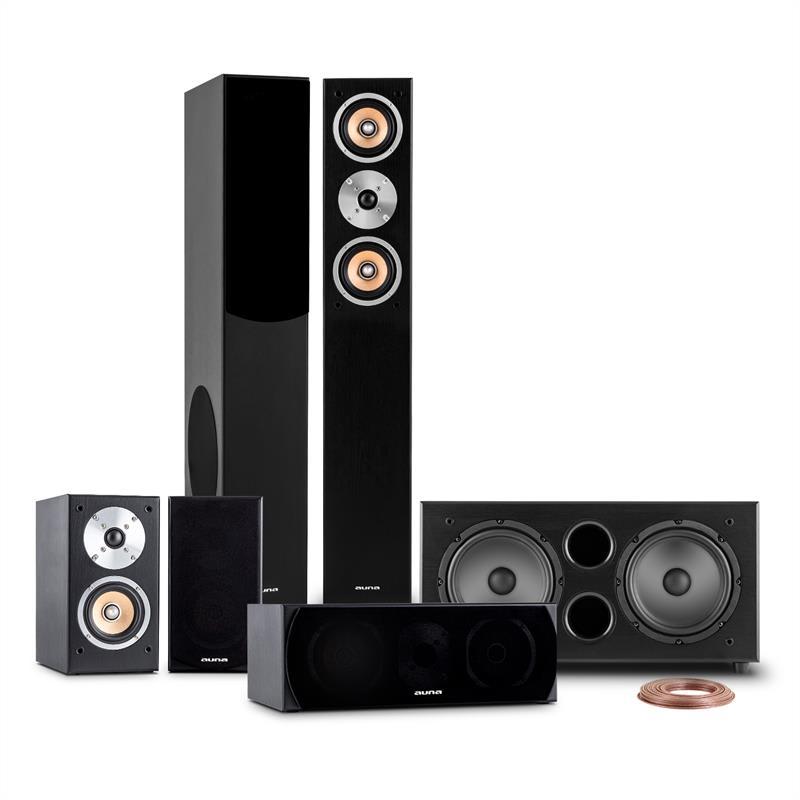 Auna Linie-501-BK, 600W, 5.1 domácí kino, zvukový systém, RMS