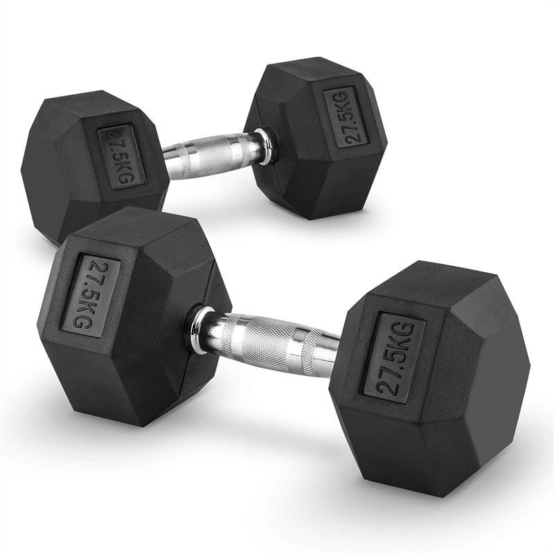 Levně Capital Sports Hexbell 27,5 Dumbbell, pár jednoručních činek, 27,5 kg