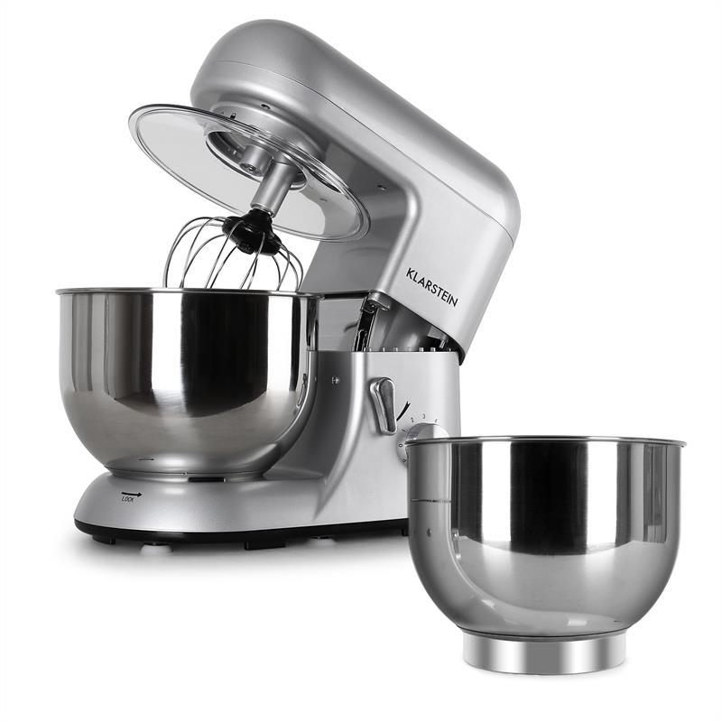 Klarstein Bella Argentea kuchynský robot + miska strieborná farba