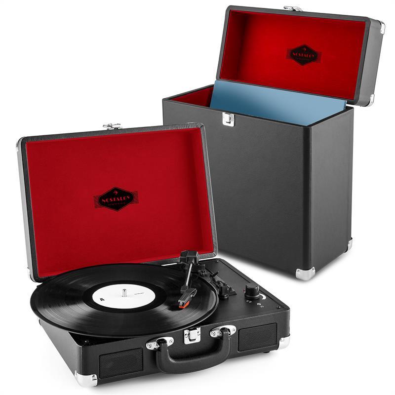 Auna Peggy Sue Record Collector Set black   retro gramofon   kufřík na gramofonové desky