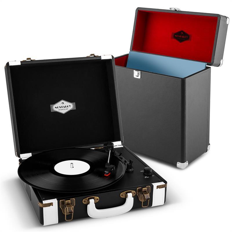 Auna Jerry Lee Record Collector Set black   retro gramofon   kufřík na gramofonové desky