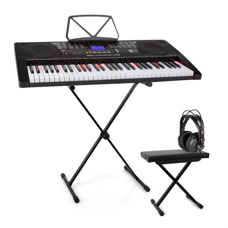 SCHUBERT Etude 225, USB keyboard se sluchátky, stojan na keyboard a lavička