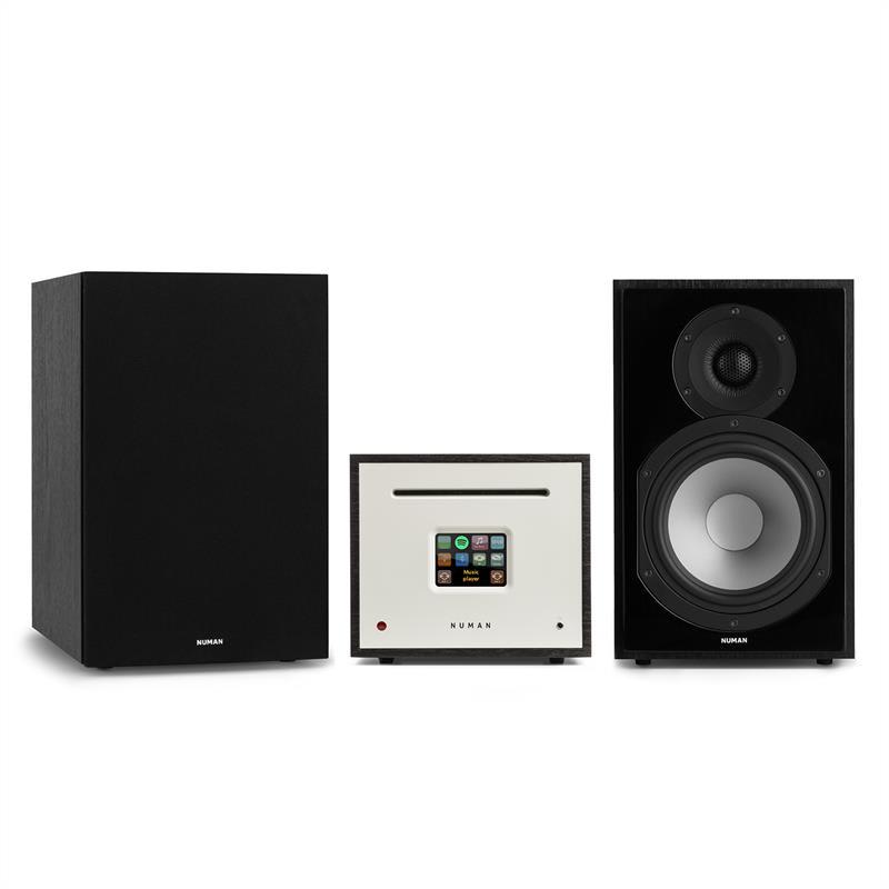 Numan Unison Reference 802 edition – stereo systém: zesilovač + reproduktory + kryty