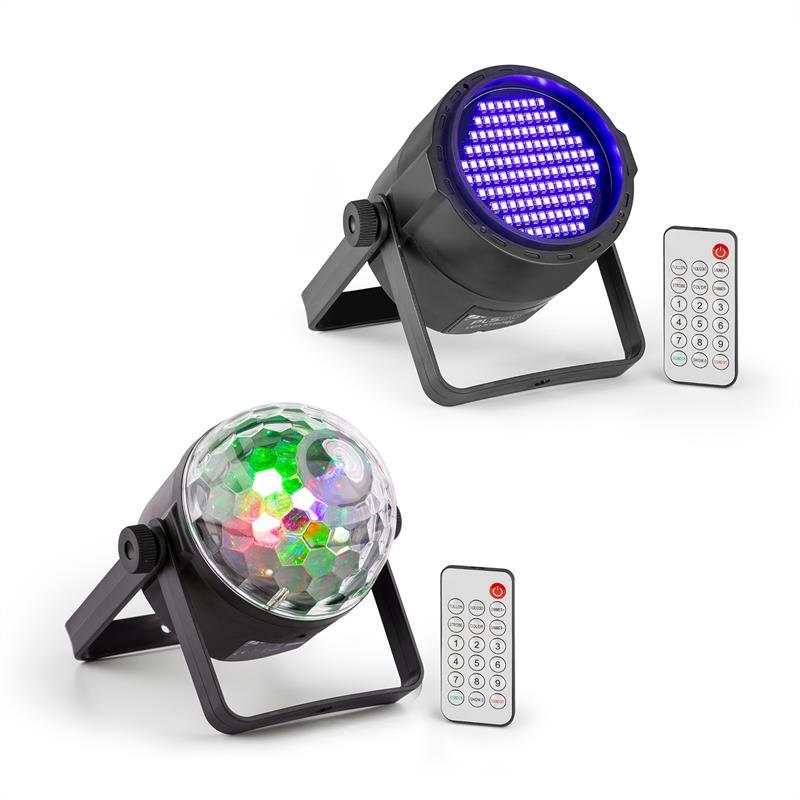 Beamz PLS35, sada V5, jellyball, 4 x 3 W LED diody, UV PAR LED reflektor, PLS20 blacklight