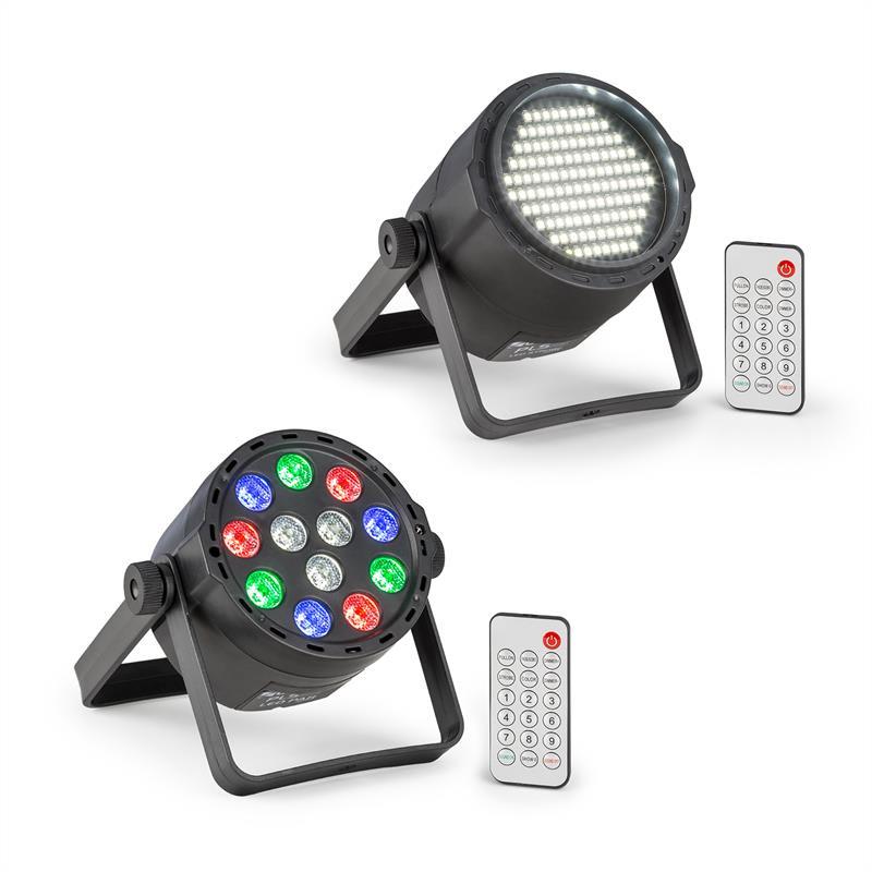 Beamz PLS15, sada V7, LED stroboskop PLS25, par LED reflektor