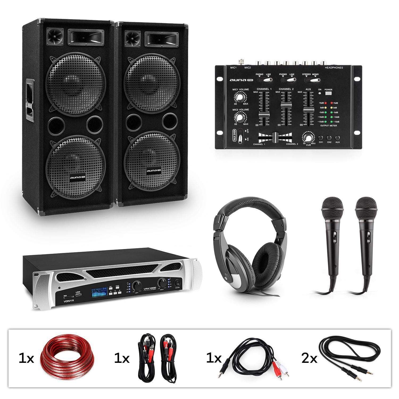 Electronic-Star eStar Block-Party, DJ systém, sada, PA zesilovač, DJ mixér, 2 x subwoofer, sluchátka