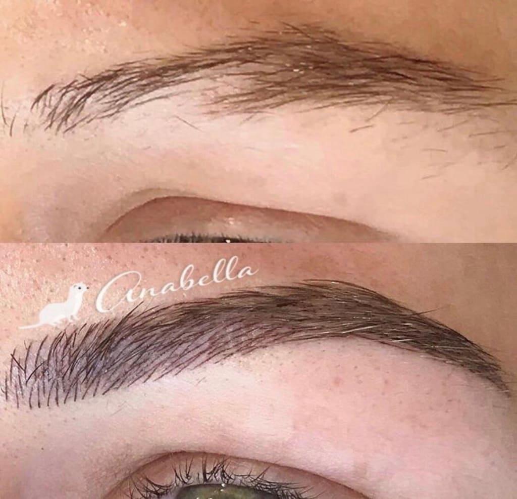 Microblading cejas pelo a pelo antes / después