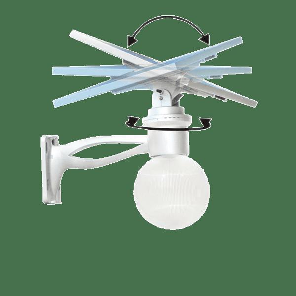 SolarPower 180º and 360º adjustment