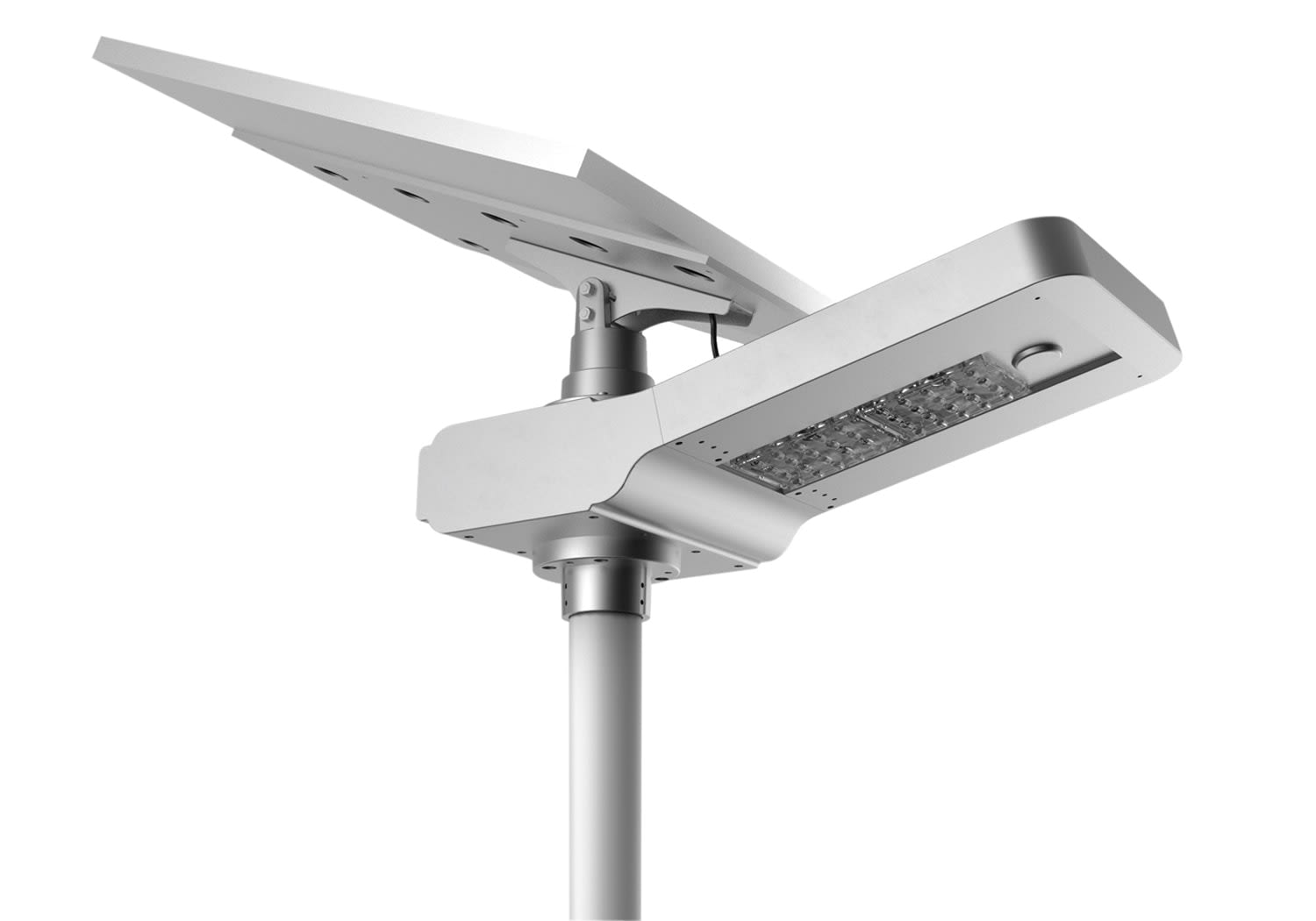 SolarPower Solar Luminaire with Adjustable Panel