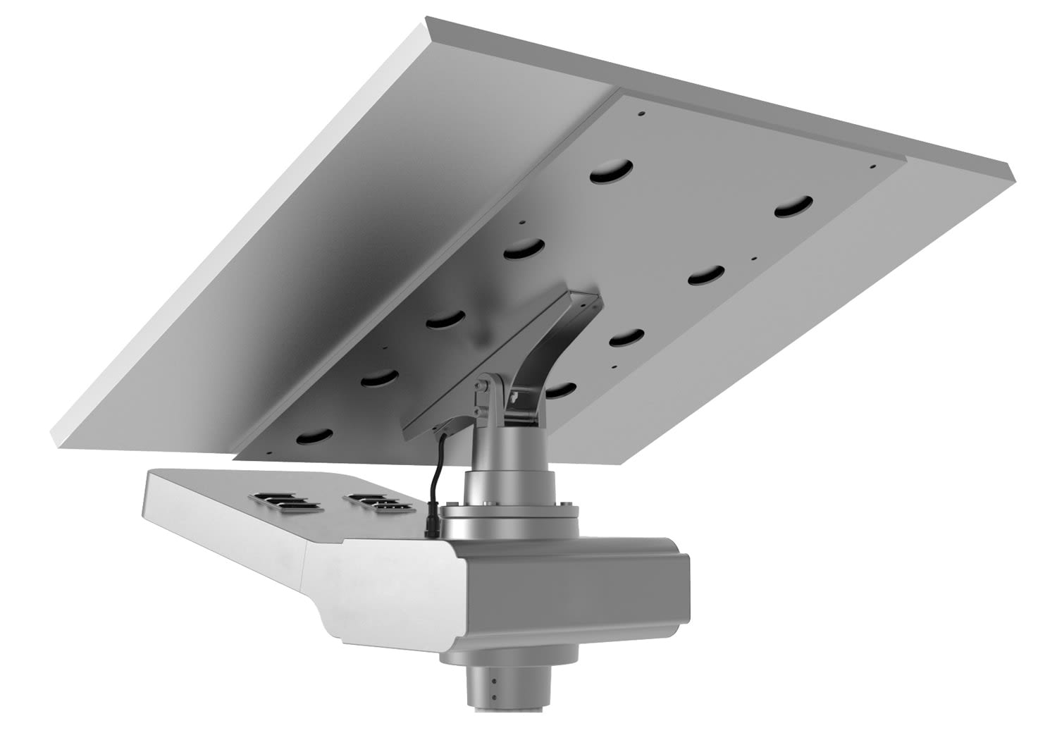Solar-Power Solar Luminaire with Adjustable Panel