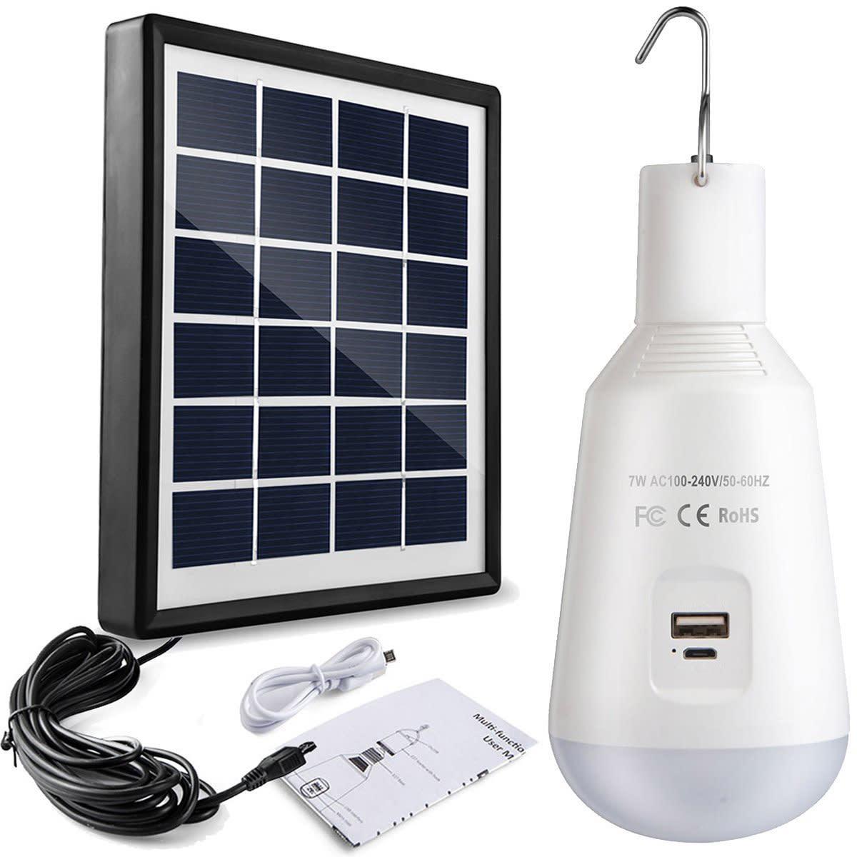 Solar-Power Solar LED Bulb Light