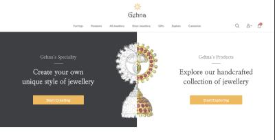 Showcase of one of the websites I built using Next js - Gehna E-Commerce