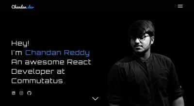 Showcase of one of the websites I built using Next js - Portfolio (this website)