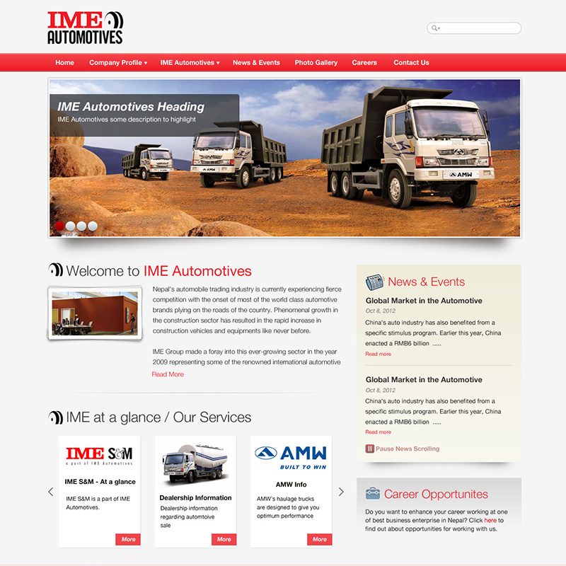 IME Automotives Homepage Template