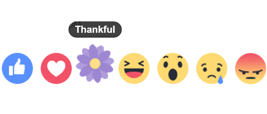 Facebook Thankful Reaction