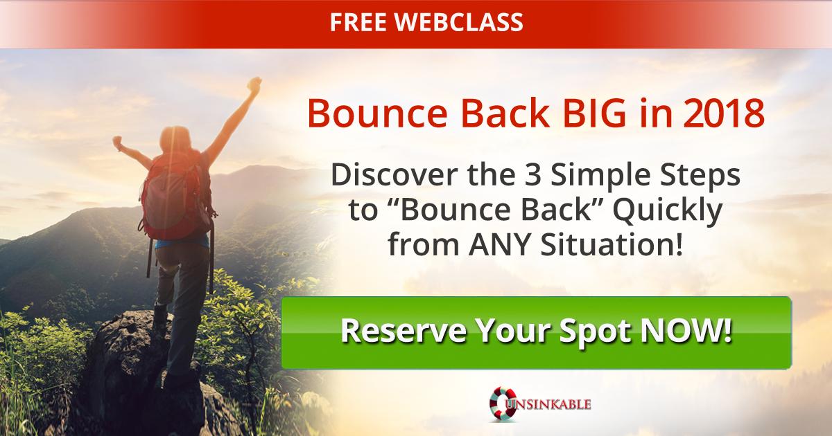 bouncebackbig2018 - Free Webinar Training: 3 Steps to Bounce Back BIG in 2018! with Sonia Ricotti