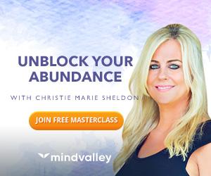 2B Affliates Invite Banne UA - Unlock Your Abundance: FREE with Christie Marie Sheldon @ MindValley