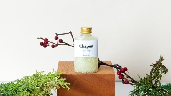 Chaponのセルフケアバスソルトは天然精油100%使用。製造後すぐにお届けする体制を整えているため、香り高い芳香浴をご自宅で楽しめます。