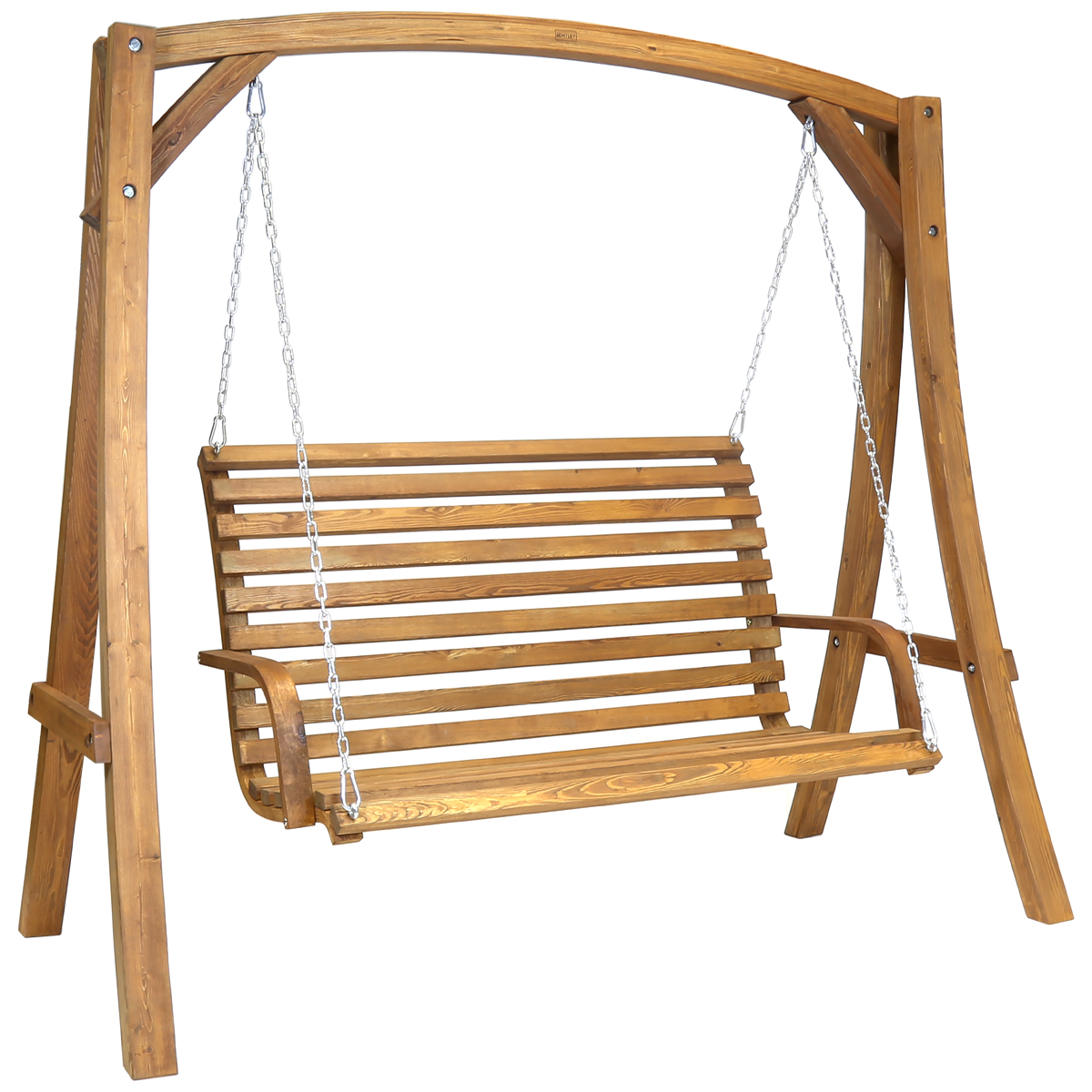 Details About Charles Bentley 2 3 Seater Swing Seat Made Of Wood 19m Weather Proof