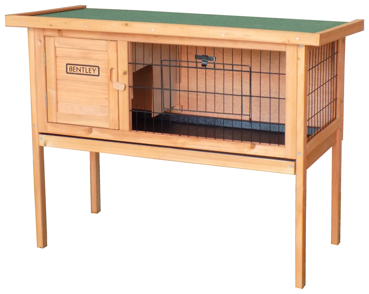 Charles-Bentley-Wooden-Raised-Rabbit-Hutch-Guinea-Pig-Cage-Run-w-Cleaning-Tray miniatura 6